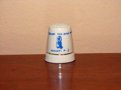 SPACE FARMS Zoo and Museum New Jersey Sussex NJ Collector Souvenir Thimble NICE!