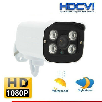 HD-CVI 1080P HD 2.0MP CCTV Security IR Night Vision Outdoor Bullet CVI Camera