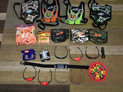 NERF Target Vests, Ammo Pouches, Saftey & Night Glow Glasses,  Darts, & More