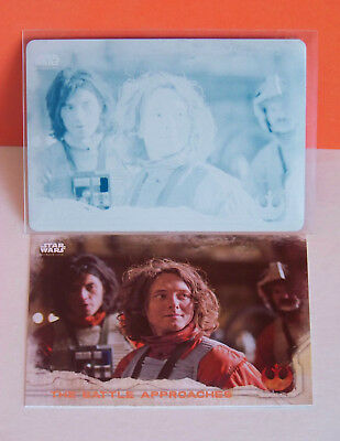 Star Wars Rogue One Series 1 cyan printing plate The Battle Approaches #72 1/1