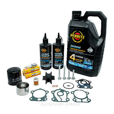 Yamaha Annual Service Kit with Oils for F80-100hp 4 Stroke Outboard