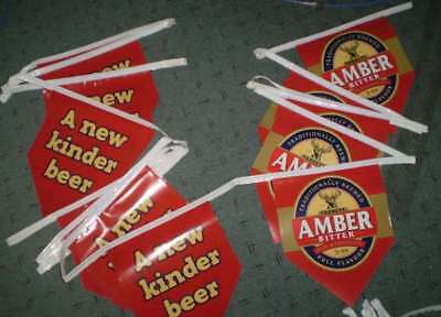 Line of 23 Pennants - approx 10.3 metres long for man shed - Tooheys Amber Bitte