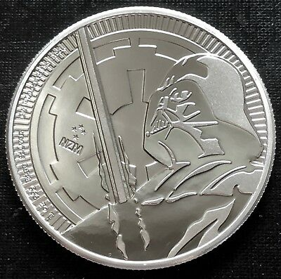 2018 Niue 1 Oz Silver $2 Star Wars - Darth Vader Lightsaber Bu!