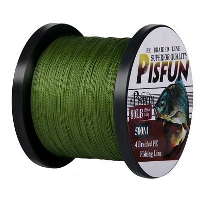 Goture Braided Fishing Line 500M 4 Strands Super Strong Multifilament PE Line