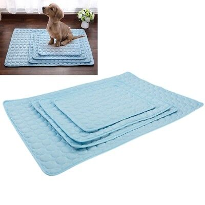 Summer Pets Dogs Cats Cooling Gel Mat Bed Heat Relief Non Toxic Cushion Pad V6Z4