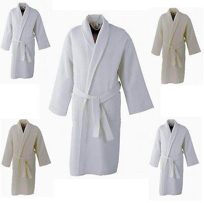 2a94194ebd Gown Supreme Waffle Bath Robe Ladies Men Hotel or 100% Cotton Dressing Gown