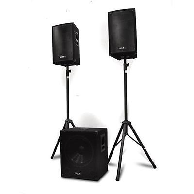 Top Ibiza Cube 1812 2.1 Aktiv Pa Dj Lautsprecher Box System Subwoofer Sound Set