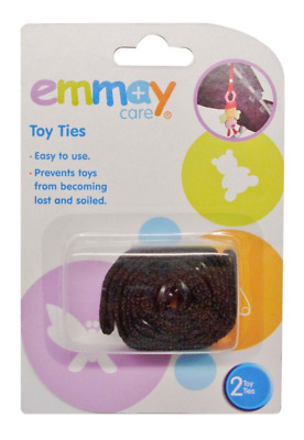 Emmay Pram Toy Tie Safety Strap 2 Pack Buggy Highchair Protector Hanging Clip