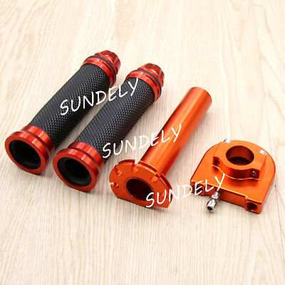 "Motorcycle Dirt Bike Scooter 7/8"" CNC Hand Grips Throttle Twist Tube SUNDELY"