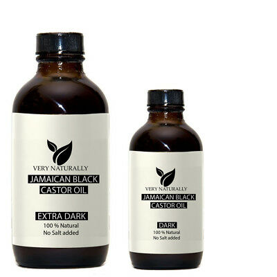 100 % Pure Jamaican Black Castor Oil Regular, Dark, Extra Dark Natural No Salt