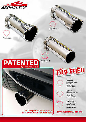 Exhaust End Pipe Heart Shape Stainless Steel Golf Polo Playboy Tigra Hollister