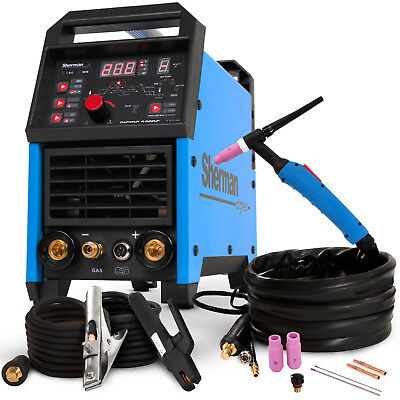 TIG Welder Welding Machine Inverter Sherman DIGITIG 200GD DC Portable 200 AMP