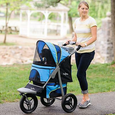 Gen7Pets G7 Trailblazer Blue Jogger Stroller for pets up to 75 lbs G2360TB