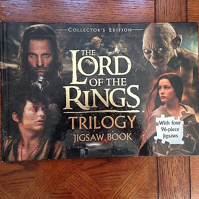 Lord of the Rings Trilogy New Collectors Edition Jigsaw Book 4- 96 Piece Puzzles