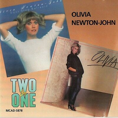 OLIVIA NEWTON JOHN - Don't Stop Believin' / Totally Hot CD (1986) Two on One MCA