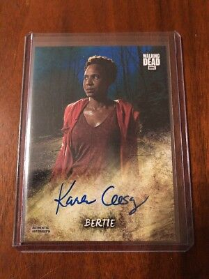 BERTIE 2018 Topps Walking Dead Road To Alexandria ON-CARD AUTO BLUE CARD 25/50