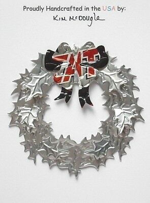 Wreath Christmas Ornament Handmade Recycled Aluminum Metal T Mexican Beer Can