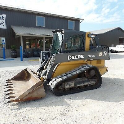 2014 John Deere 323E Tracked skidsteer Loaded cab A/C  Nice shape!! Video!