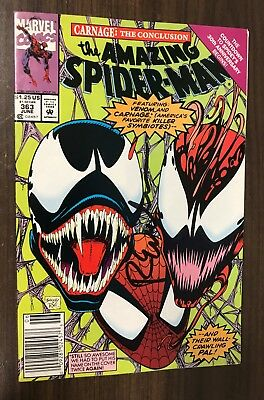 AMAZING SPIDER-MAN #363 -- Classic VENOM / CARNAGE Cover -- Newsstand -- SIGNED