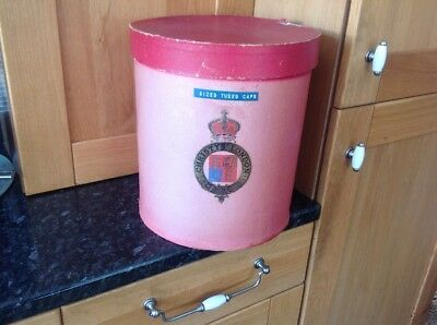 Christys' London Original Edwardian Country House Shabby Chic Hat Box Armorial
