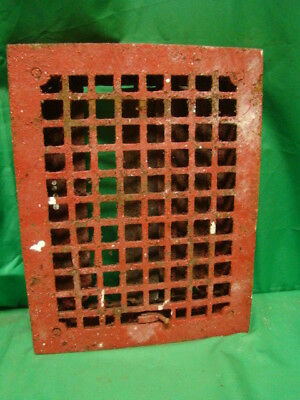 Antique Cast Iron Heating Grate Square Design 14 X 11 Jhv