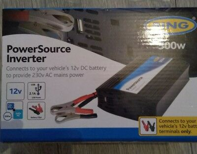 (03)Ring RINVU500 Powersource 500W Inverter with Three Pin Socket and USB