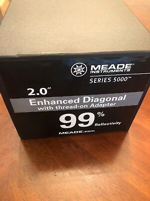"Meade Instruments 07680 Series 5000 2"" Enhanced Dielectric Diagonal Mirror 1-W84"