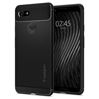 Pixel 3 / Pixel 3 XL Case | Spigen® [Rugged Armor] Hybrid Shockproof Slim Cover