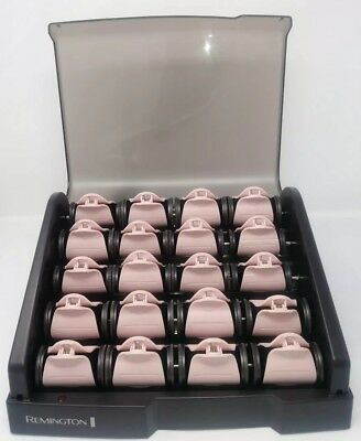 Remington H9000 Pearl Ceramic Heated Clips Hot roller hair curlers 20 pc Velvety