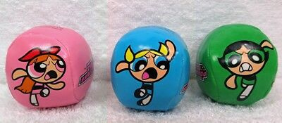 Set of Three (3) POWERPUFF GIRLS Hacky Sack Kick Balls
