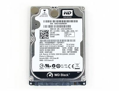"Western Digital Scorpio Black 320 GB 2.5"" Internal Hard Drive - WD3200BEKT"