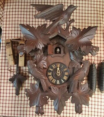 Vintage  Bachman & Klemmer Regula Germany Cuckoo Clock For Parts Or Restoration