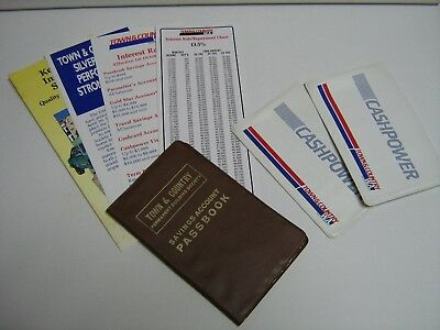 """ANZ Historical Aquisition """"Town&Country Building Society WA"""" Wallet/Cardholderx3"""