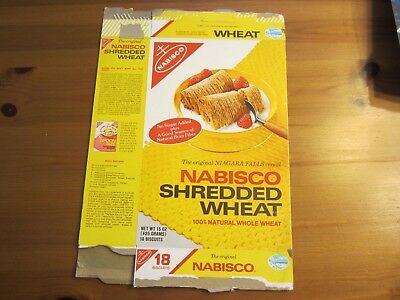 "Vintage 1975 Nabisco Shredded Wheat Cereal Box, Approx. 15 1/2"" T x 10 1/2"" W"