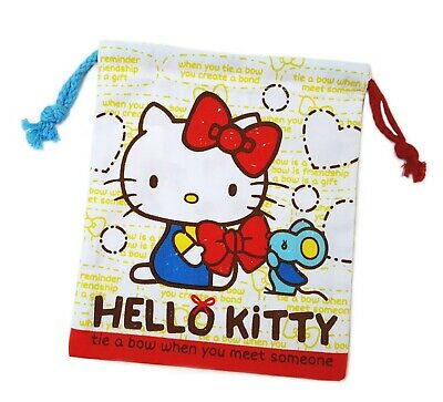 Sanrio Hello Kitty Drawstring Bag Pouch 16x18cm 181044-00 (with tracking  no.) 02522eefc6cf5