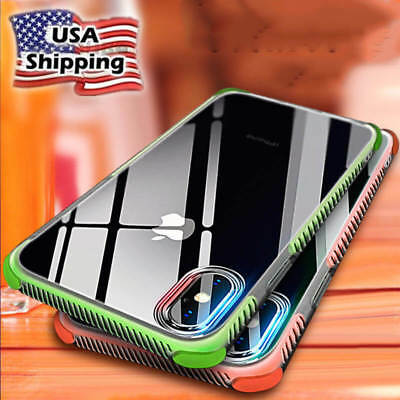 US For iPhone XS Max Case Clear Transparent Bumper Cover Shockproof Protective
