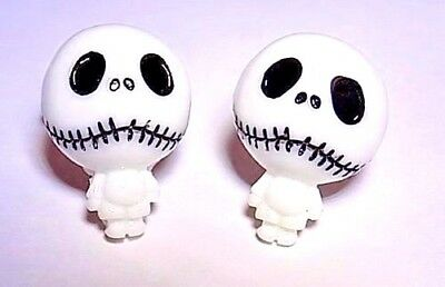 Handmade Jack Skellington Resin Cufflinks, Silver Plated Toggles, Gift Boxed!