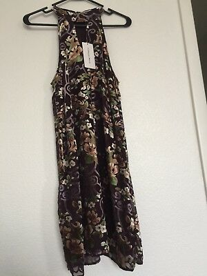 NWT Carolina Belle Montreal Women Brown Floral Dress, size 10 OBO