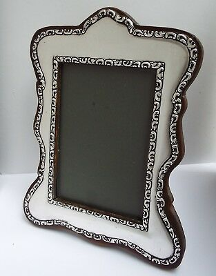 Beautiful Large Genuine English Antique 1919 Solid Sterling Silver Photo Frame