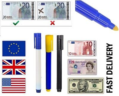 10x Money Tester Pen Counterfeit Bank Note Detector Pens -Fast delivery*Detector