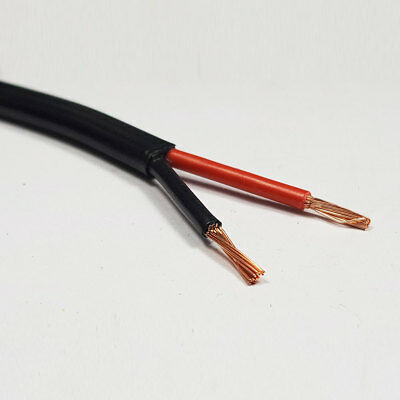5 Metre x 2.0mm2 Thinwall Twin Core Two Core 2 Core Cable Red/Black 25 Amp Wire