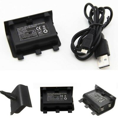Rechargeable 2400mAh Ni-MH Battery + USB Charging Cable For XBOX ONE Controller