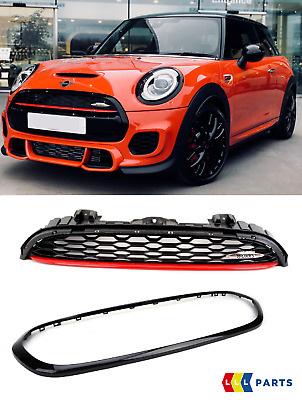 Mini New Genuine F55 F56 F57 Jcw Front Upper Grill + Trim Surround Gloss Black