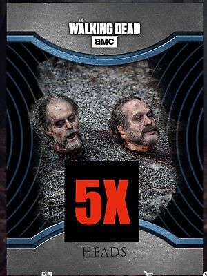 5x SILENCE HEADS BLUE Wave 2 Topps Walking Dead Digital Card Trader