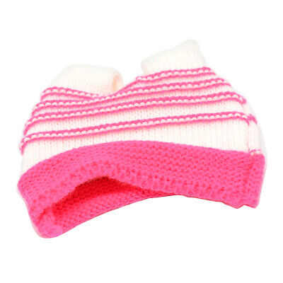Wool Knitted Cap Hat For 18inch Our Generation Girl Dolls Accessory Rose Red