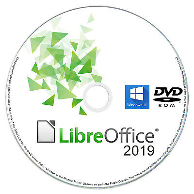 LibreOffice 2019 Professional Business Home & Student Office Suite Windows PC