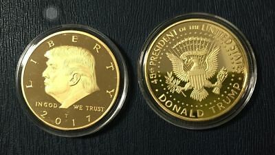 Cheap US President Donald Trump Inaugural Gold EAGLE Commemorative Novelty Coin