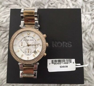 Michael Kors Parker MK5626 Gold and Silver Wrist Watch for Women MK EUC