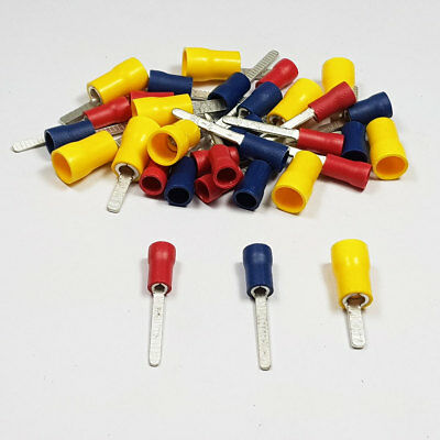 Insulated Straight Flat Blade Terminal Connector Crimp Electrical BULK Listing
