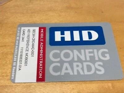 HID Config Card for iCLASS SE and multiCLASS SE Readers SEC9X-CRD-MAD-0001 NEW